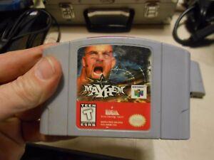 Details about WCW Mayhem Nintendo 64 N64 World Championship Wrestling Game  w/ Bill Goldberg