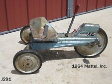 VINTAGE MATTEL VRROOM X-15 PEDAL CAR TOY TRICYCLE SPACE JET BIKE METAL RARE 1964