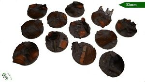 32mm-Round-Resin-Scenic-Infantry-Bases-Urban-Rubble-1-Wargames-40K