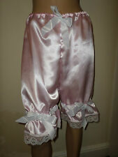 PINK  SATIN WHITE  LACE BLOOMERS VICTORIAN LOOK  30-46W