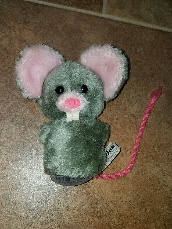 Wallace Berrie Mouse Mini Plush 6  1975 Vintage RARE MUZZLES Q55