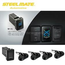 Steelmate 4 Sensor Wireless TPMS Tire Pressure Monitor System For Toyota S4D7