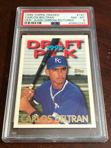 Details About 1995 Topps Traded Carlos Beltran Rookie 18t Uer Graded Psa 8 Nm Mt