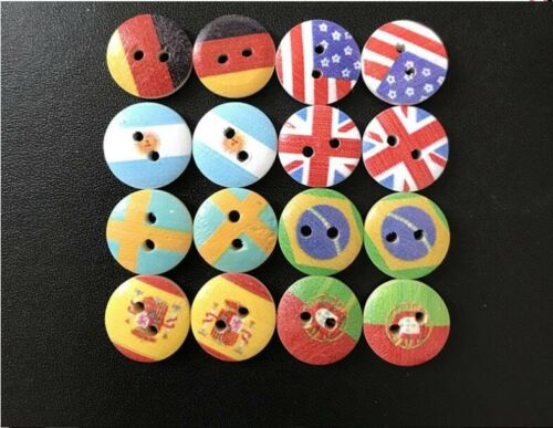 Wood Buttons Scrapbooking Crafting Sewing
