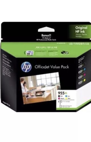 Genuine HP955XL 4-ink Value Pack Black+Cyan+Magenta+Yellow For HP Pro8210,8710