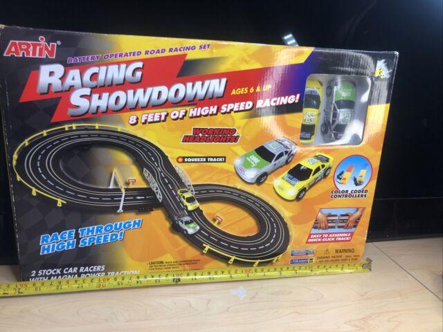 Artin Racing Showdown 8 FEET TRACK Working Headlights Squeeze Track Vintage NIB