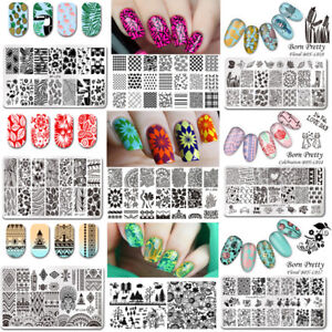 Beauty & Health 2pcs Nail Art Stamping Template Dreamcather Flamingos Flower Lace Fruit Stamp Plates Nail Mold Stencil Tools Manicure Nail Art