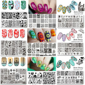 BORN-PRETTY-Nail-Art-Stamping-Plates-Rectangle-Image-Templates-Decors-Collection