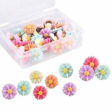 30 Pieces Flower Daisy Push Pins For Photo Wall Feature Wall Cork Boardetc