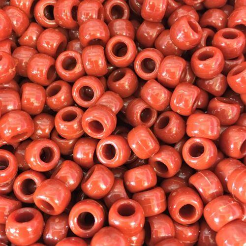 Brown opaque poney perles 9x6mm-tous les montants