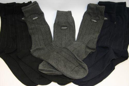 Nouveau Pack de 9 coton pour homme Noir Gris Marine Socquettes Taille 7-10 FREE P/&P
