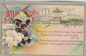 Memorial-Day-Decoration-Day-Postcard-PATRIOTIC-WINSCH-BACK-1909