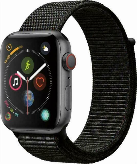 Apple Watch Series 4 44 Mm Space Gray Aluminum Case With Black Sport Loop Gps Cellular Mtux2ll A For Sale Online Ebay