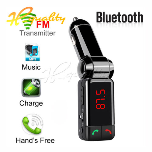 FM Transmitter Bluetooth Car Charger Radio Stereo MP3 Player Handsfree Calling