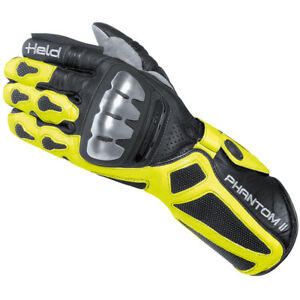 Held Phantom 2 Motorrad Sport Racing Handschuh schwarz/neon NEU! 9,5