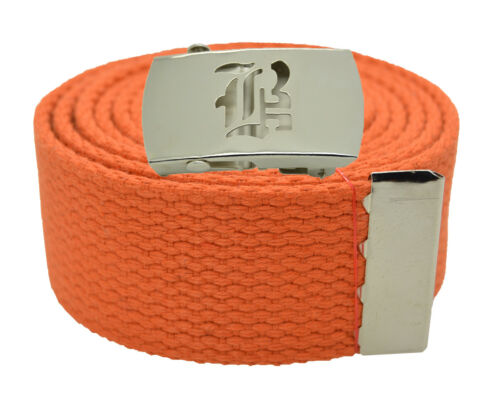 "60 54 72 Inches 25 Color Canvas Military Web Belt /& BIG /""B/"" Silver Buckle 48"