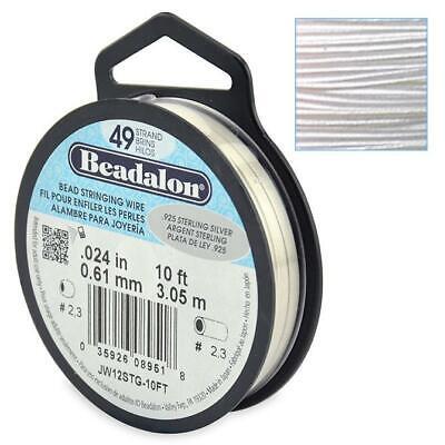 Beadalon Schmuckdraht 100ft//31m 49 Strang Edelstahl 0,38mm Grundpreis 1,61 €//m
