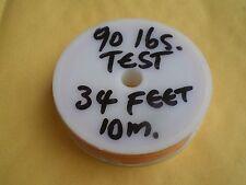 STAINLESS STEEL ORANGE WIRE LEADER 34 FEET/10m 90 LBS TEST 1X7 STRAND+10 SLEEVES