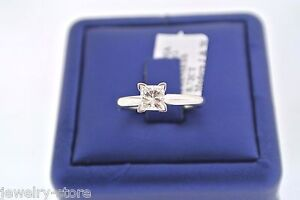 Special-Price-14k-W-G-Solitaire-0-72-CT-Princess-Cut-Diamond-Engagement-Ring