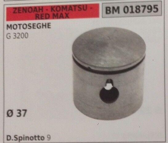 PISTONE COMPLETO DI SEGMENTI E SPIN MOTOSEGA ZENOAH KOMATSU rojo MAX G 3200 Ø37