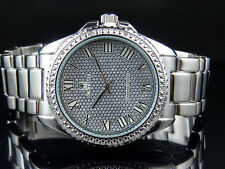 Men's Genuine Diamond Icetime Cosmo Watch CS-01 White Gold Finish .10ct