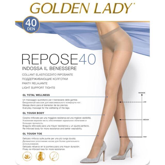10 PAIA COLLANT GOLDEN LADY REPOSE 20 DENARI TAGLIA XL COLORE DAINO