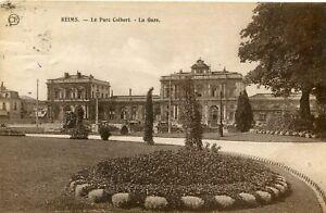 Carte-REIMS-Le-Parc-Colbert-La-Gare