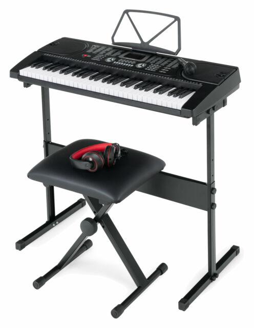B-WARE Digital 61-Tasten Keyboard 300 Sounds /& Rhythmen Touch Response Schwarz