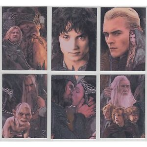 LOTR-Lord-of-The-Rings-Masterpieces-2-II-Etched-Foil-Trading-Cards-Set-of-6