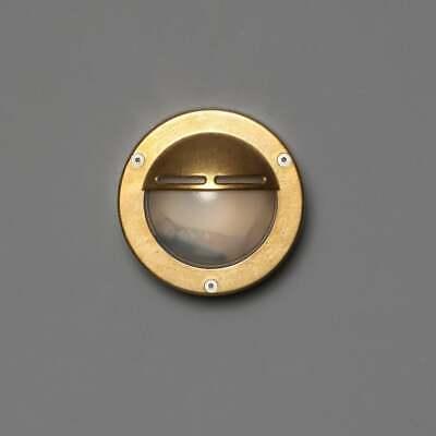 FIRA Outdoor Wall Light Brass Round Bulkhead Garden Light Marinal Nautical