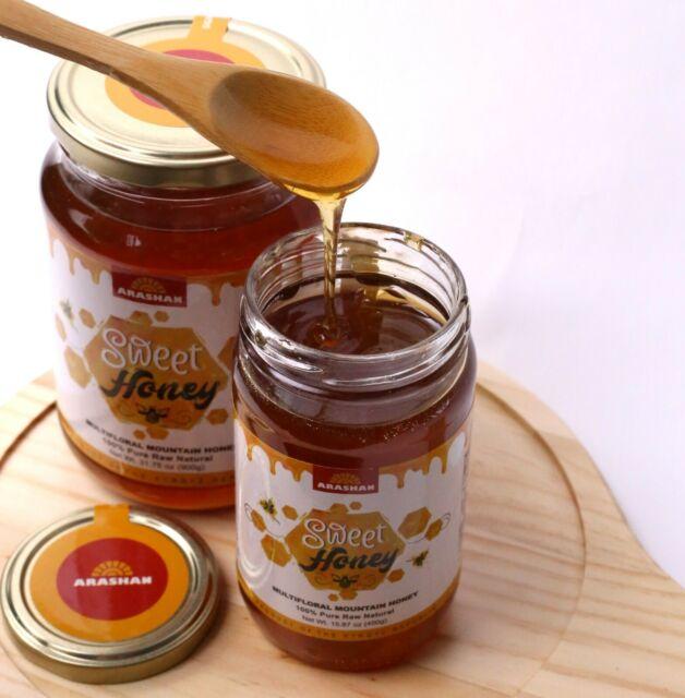 Organic Wildflower Raw Multifloral Honey Pure Unfiltered, Kosher