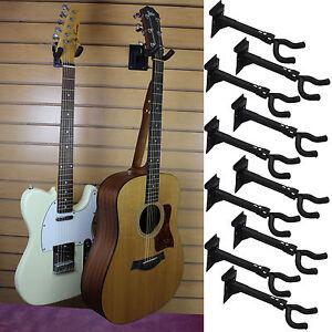 """Guitar Hanger Bracket Slatwall Standard 3"""" OC Spacing Fixture Music Store 10 Qty"""