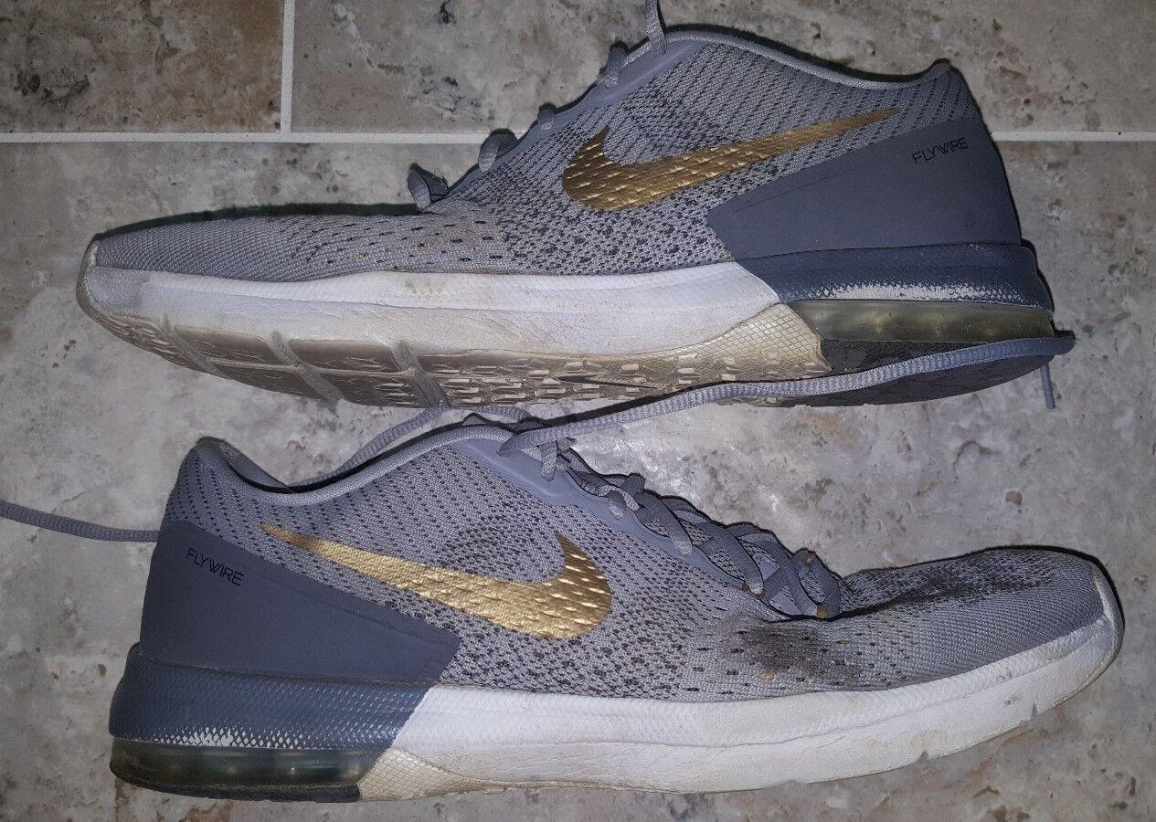 Nike Air Max Typha Shoe 820198-070 Grey/Gold/Wht Men's US12 UK11 SWEET!!
