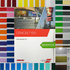 Farbfächer Farbkarte Farbtonfächer Oracal 651 RAL HKS Muster für Folien Plotter