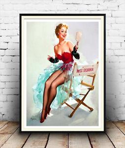 Vintage Magazine artwork Reproduction poster Elvgren Wall art.