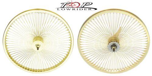 "Bicycle wheel 20/"" x 1.75/"" Steel Bike Wheel 144 Spoke 14g Gold 3//8 Axle Gold"