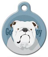 Good Boy English Bulldog - Custom Personalized Pet Id Tag For Dog Collars