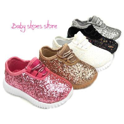 Infant Toddler Girls Glitter Sneakers