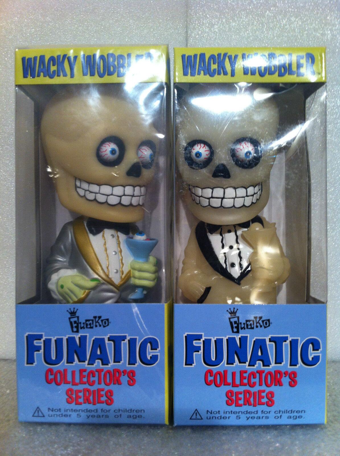 FUNKO FUNATIC serie Bone Daddy Variante Conjunto GITD WACKY WOBBLER BOBBLE HEAD NUEVO