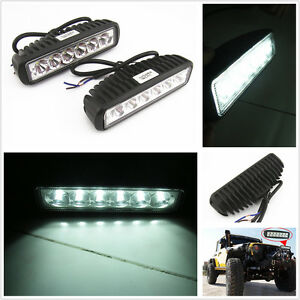 2-x-18W-Off-Road-Driving-Fog-Work-Light-Spot-Beam-LED-For-Jeep-4WD-Truck-SUV-ATV