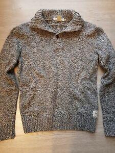 420e2b93eb NEU H&M Strickpullover 158 164 12 14 blau weiß Pullover Pulli ...