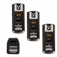 Yongnuo RF602 RF-602 2.4GHz Wireless Remote Flash Trigger 3 Receivers for Canon