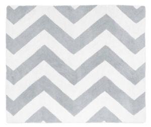 Sweet Jojo Designs Baby Kid Floor Rug For Gray White Chevron Zigzag Bedding Set Ebay