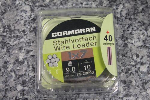 Cormoran Stahlvorfach 10m Stahldraht Wire Leader 1x7 40 Quetschhülsen