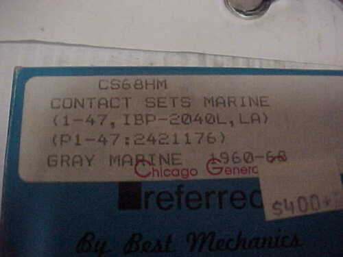 POINTS FOR BOAT CS68HM SEE DISCRIPTION NEW GRAY MARINE CONTACTS