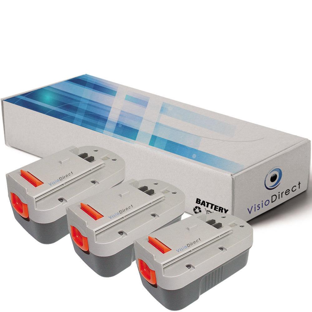 Lot de 3 batteries 18V 3000mAh pour FIRESTORM NST1118 - Société Française -
