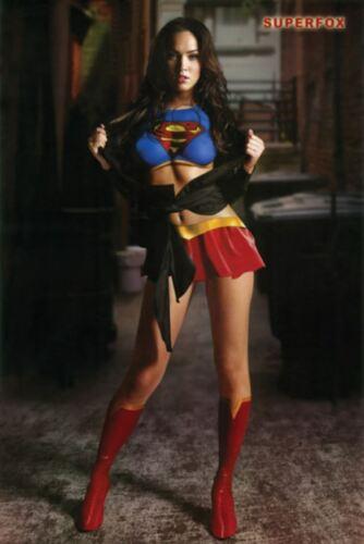 Supergirl Megan Fox 24x36 Poster Superfox Pose Home Decor Photo Wall Art Print