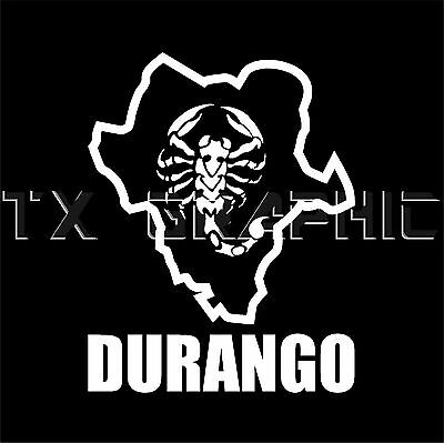 """Durango Mexico State Map Funny Vinyl Decal Sticker Car Window laptop tablet 9/"""""""