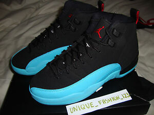 NIKE-AIR-JORDAN-RETRO-12-XII-GAMMA-BLUE-GS-US-4-5Y-UK-4-EU-36-5-2013-BLACK