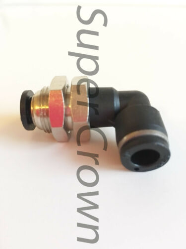 Pneumatic Bulkhead Union Elbow NPT One Touch Push to Connect Air Fitting